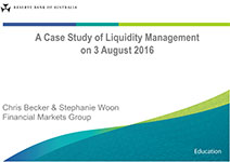 Presentation slide: A Case Study of Liquidity Management