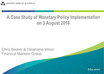 Presentation slide: A Case Study of Monetary Policy Implementation