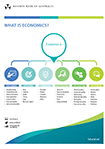 Poster: Economics is about explaining, applying, creating, investigating, influencing and informing.