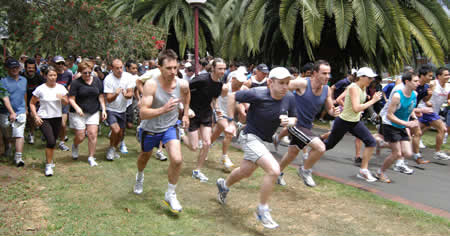 Photograph of 2007 Interdepartmental run/walk
