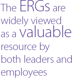 The ERGs are widely viewed as a valuable resource by both leaders and employees