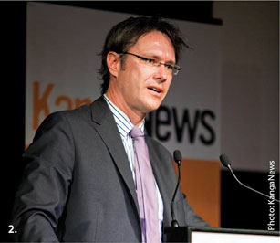 Assistant Governor Guy Debelle addresses the KangaNews Australian DCM Summit. Photo: KangaNews