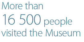 16,500 people visited the Museum