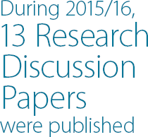 During 2015/16, 13 Research Discussion Papers were published