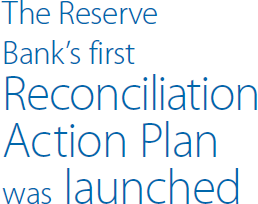 The Reserve Bank's first Reconciliation Action Plan was launched