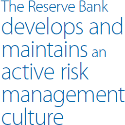 The Reserve Bank develops and maintains an active risk management culture