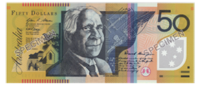 Image of first polymer series fifty dollar note