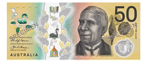 Image of second polymer series fifty dollar note