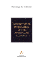 Cover: International Integration of the Australian Economy